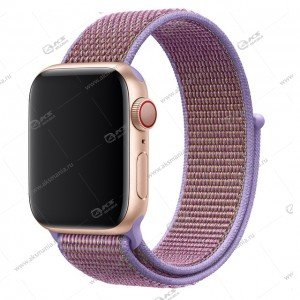 Ремешок нейлоновый для Apple Watch 42mm/ 44mm лиловый