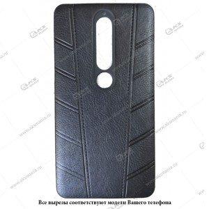 Силикон Samsung S9  кожа Protect с логотипом черный