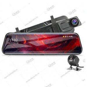 Зеркало-видеорегистратор Vehicle Blackbox с задней камерой L1027 10дюйм (сенсорный экран)