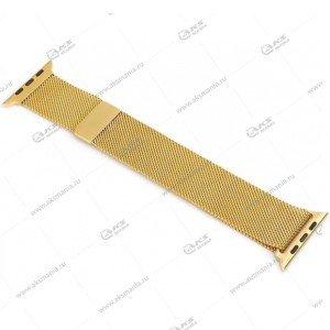 Ремешок миланская петля для Apple Watch 38mm/ 40mm ретро-золотой