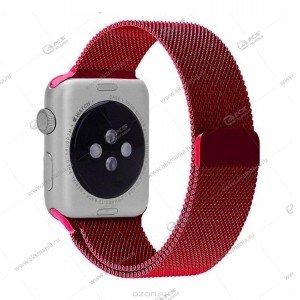 Ремешок миланская петля для Apple Watch 42mm/ 44mm красный