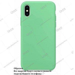 Silicone Case для iPhone  12 Pro Max мятно-зеленый