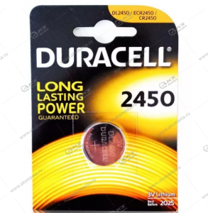 Элемент питания Duracell CR2450/1BL