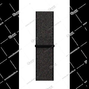Ремешок нейлоновый для Apple Watch 38mm/ 40mm темно-серый