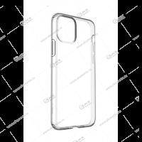 Силикон для iPhone 11 плотный тонкий прозрачный