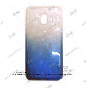 Силикон Samsung J260/J2 Core перламут 2в1 синий