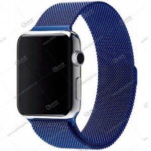 Ремешок миланская петля для Apple Watch 38mm/ 40mm синий