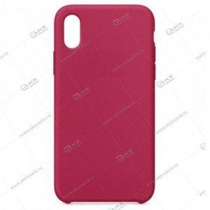 Silicone Case (Soft Touch) для iPhone X розово-красный
