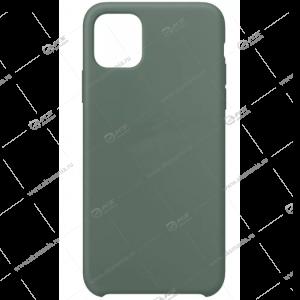 Silicone Case (Soft Touch) для iPhone XR серо-зеленый