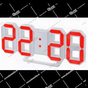 Часы Perfeo Luminous 2 PF-6111 белый корпус / красная подсветка