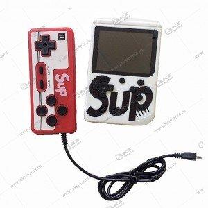Портативная игровая приставка с джойстиком SUP Game box 400in1 белая