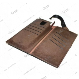 Чехол кошелек Brauffen для Galaxy S5 коричневый