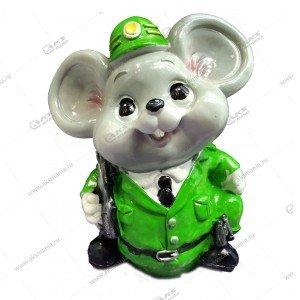 """Копилка Мышь """"Полицейский"""" 16см-14см цвета разные"""