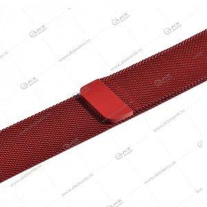 Ремешок миланская петля для Apple Watch 38mm/ 40mm темно-красный
