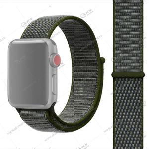 Ремешок нейлоновый для Apple Watch 42mm/ 44mm зеленый с серым