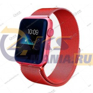 Ремешок миланская петля для Apple Watch 38mm/ 40mm красный