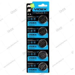 Элемент питания VIDEX CR2430/5BL