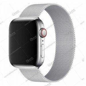 Ремешок миланская петля для Apple Watch 42mm/ 44mm светло-серый