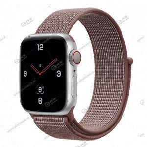 Ремешок нейлоновый для Apple Watch 38mm/ 40mm коричневый