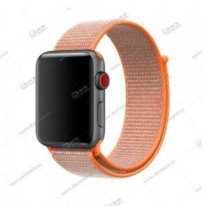 Ремешок нейлоновый для Apple Watch 38mm/ 40mm оранжевый