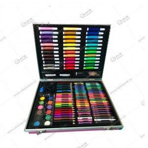 Набор для рисования в металлическом чемоданчике 150 предметов серебро