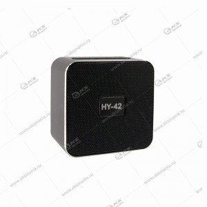 Колонка портативная  HY-42 BT FM TF USB серебро