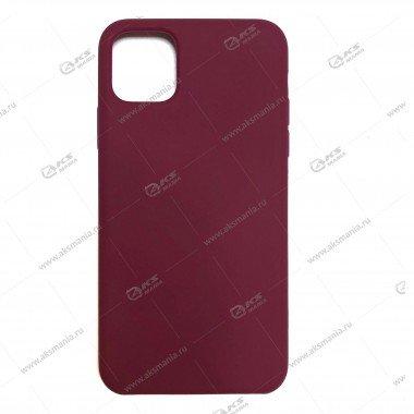 Silicone Case (Soft Touch) для iPhone 11 Pro Max гнилая вишня