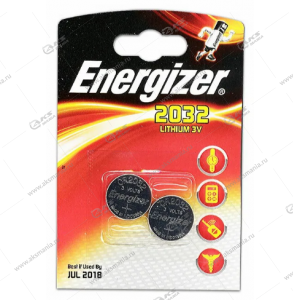 Элемент питания Energizer CR2032/2BL