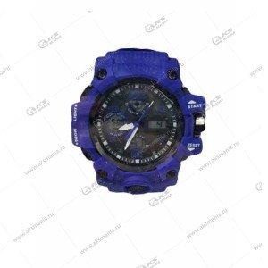 Наручные часы KASIO водонепроницаемые в пластике синие