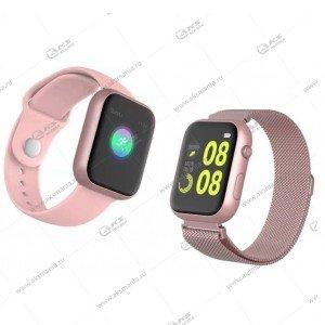 Smart Bracelet SX18 Шагомер Пульсометр розовый