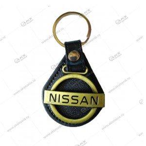 """Брелок для ключей кожа """"Nissan"""""""