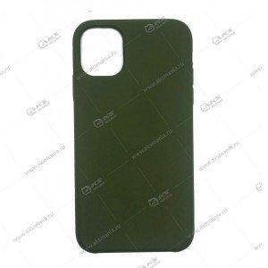 Silicone Case (Soft Touch) для iPhone 12 mini темно-зеленый