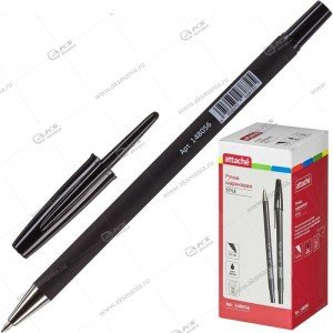 Ручка шариковая Attlache Style 0,5мм прорезин. корп. черный ст.