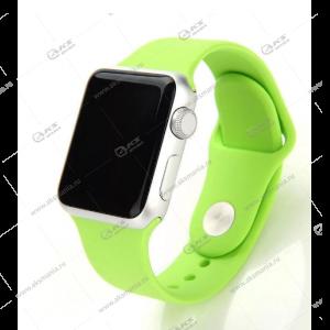 Ремешок силиконовый для Apple Watch 42mm/ 44mm ярко-зеленый