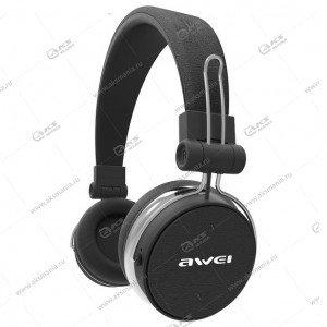 Наушники Bluetooth Awei A700BL Накладные черно-серые