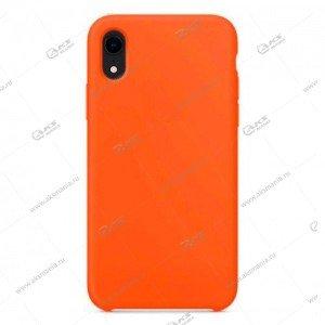 Silicone Case (Soft Touch) для iPhone X оранжевый